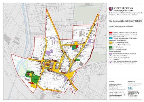 Sanierungsplan - durchgeführte Maßnahmen 1991-2013